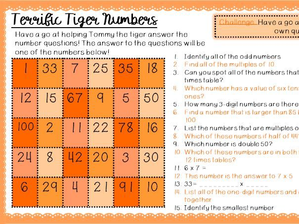The Timid Tiger-Maths