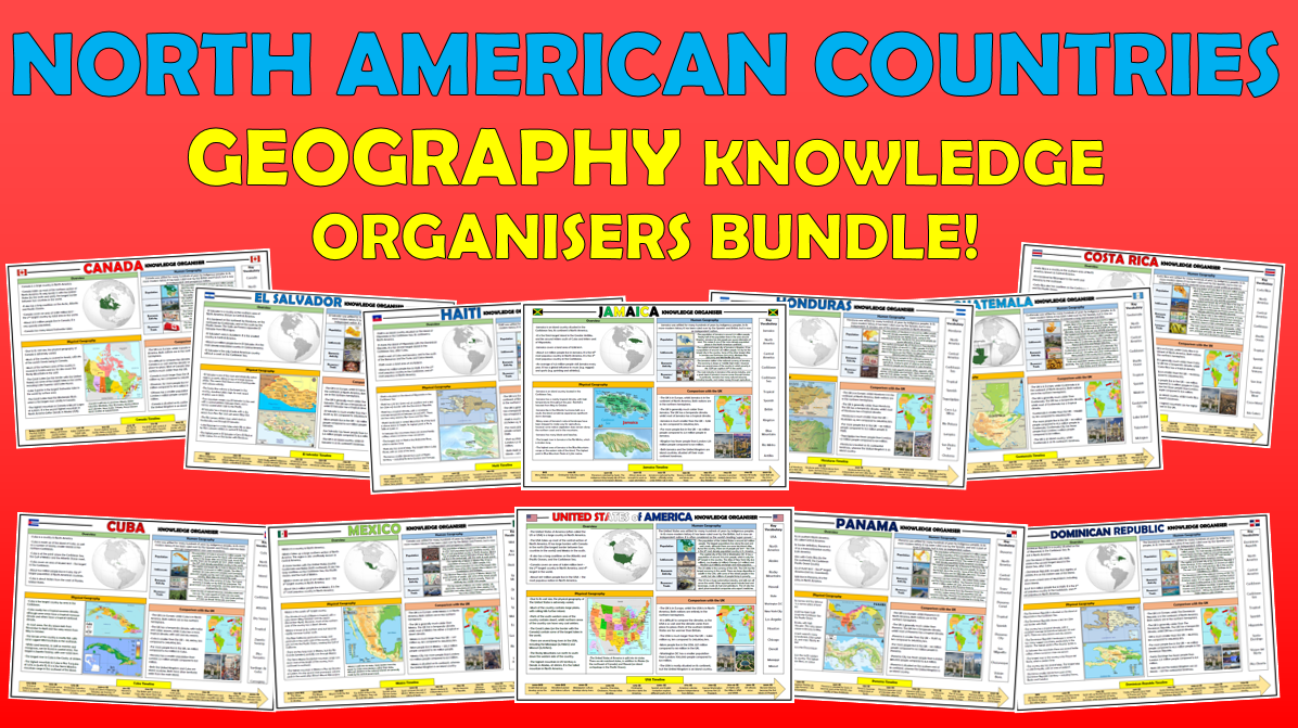North American Countries  KS2 Geography Knowledge Organisers Bundle!