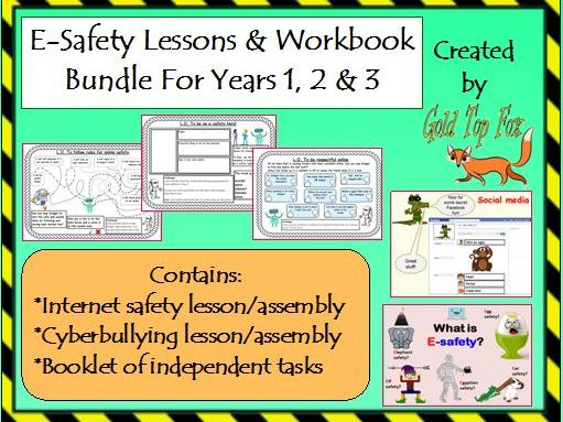 E-safety Workbook and Lessons Bundle (Years 1, 2 & 3 internet safety)