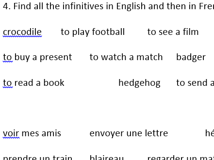 French in town / en ville verbs to build sentences with opinions and I can / je peux for KS3