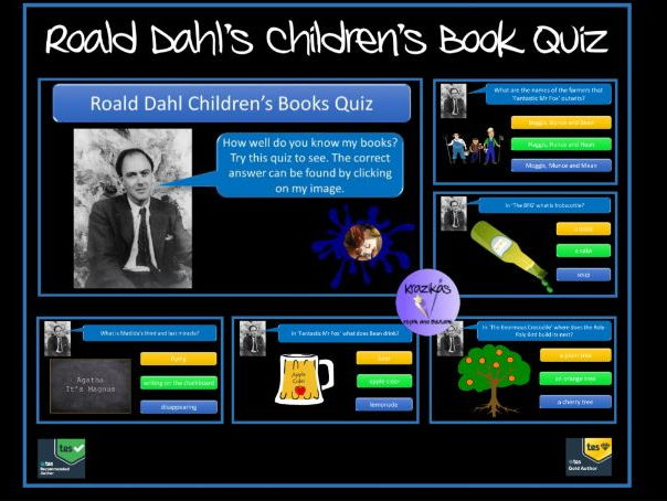 Roald Dahl Children's Book Quiz - Ideal for Roald Dahl Day in September