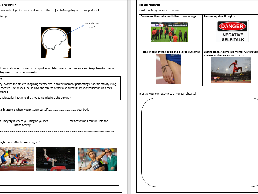 GCSE PE Exam 2 Workbook