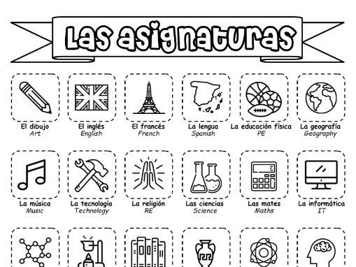 Spanish KS3 - Las asignaturas - booklet of activities