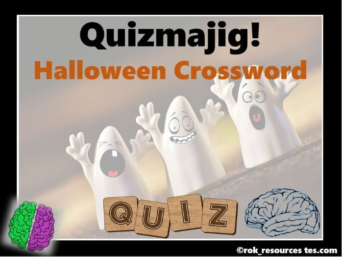 Halloween puzzle crossword
