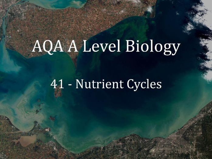 AQA A Level Biology Lecture 41 - Nutrient Cycles
