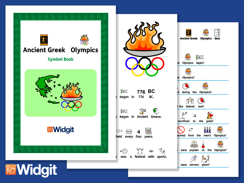 Ancient Greek Olympics History Book And Activities With Widgit