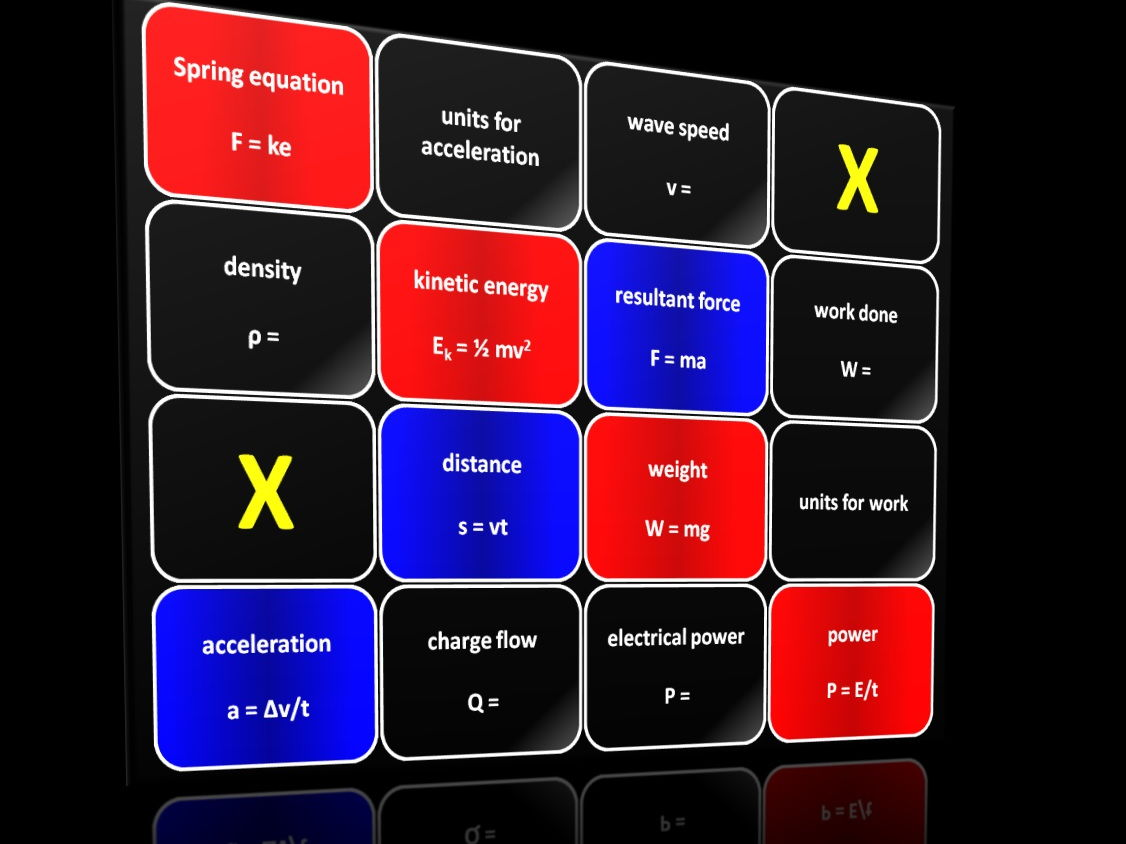 Four in a Row Interactive Quiz Game: Physics Bundle of Seven