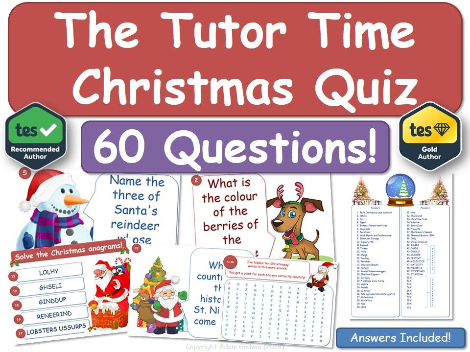 Christmas Quiz - Tutor / Form  Group Fun!