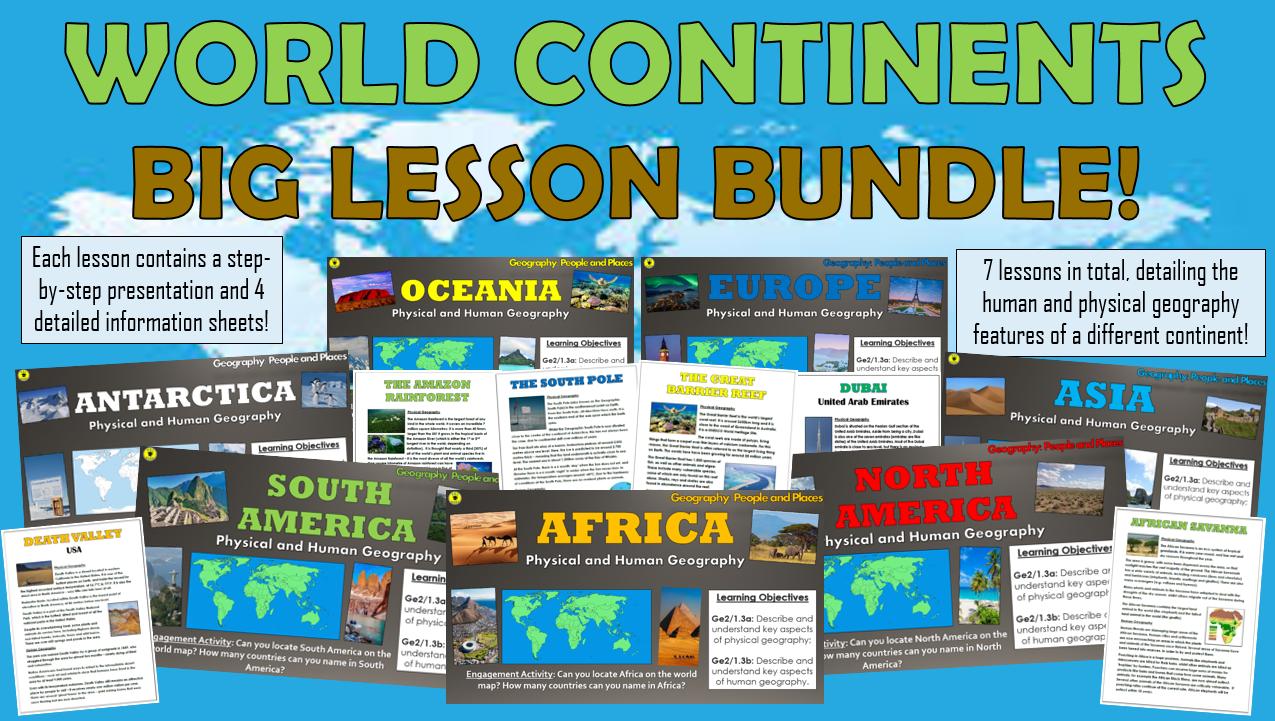 World Continents - Big Lesson Bundle!