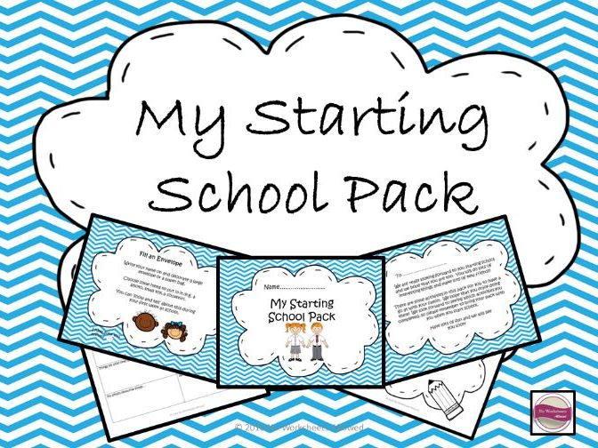 Starting School/Reception Take Home Pack