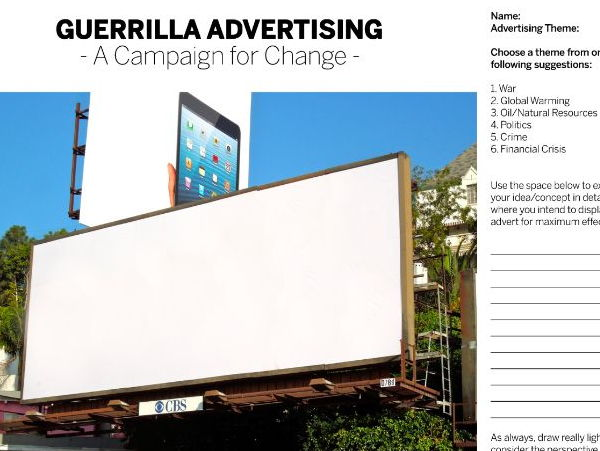 Guerilla Advertising Billboard Template