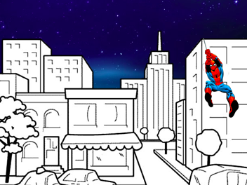 Spiderman Pencil Control; Drawing, Writing and Colouring