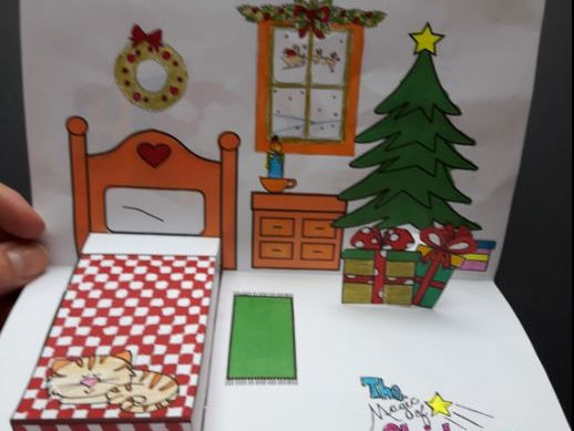 Christmas Crafts - The Magic of Christmas POP-UP (Freebie)