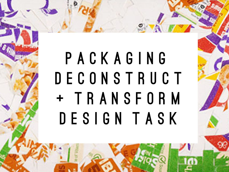 Food Package Deconstruct & Transformation Design Lesson