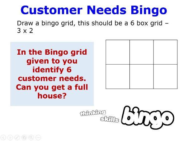 Customer needs - 1.21.