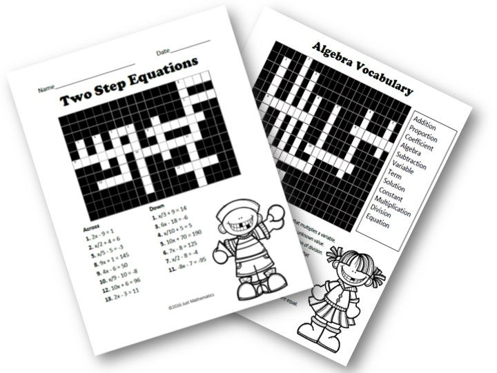 Two Step Equation Crossword