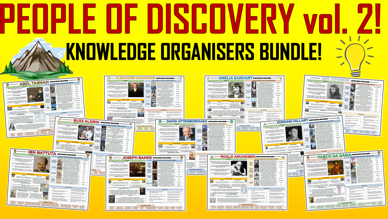 People of Discovery Volume 2 - Knowledge Organisers Bundle!