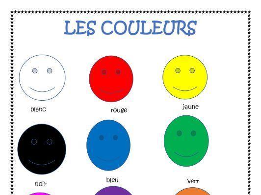 French Colours (Les Couleurs) Distance Activity