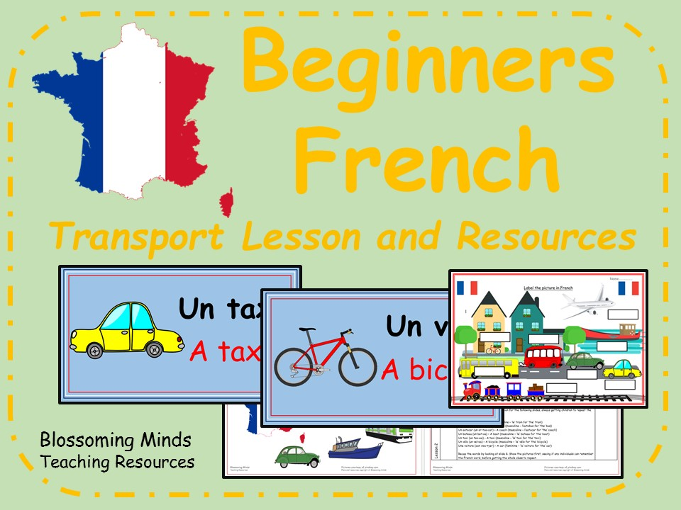 French lesson and resources - KS2 - Transport