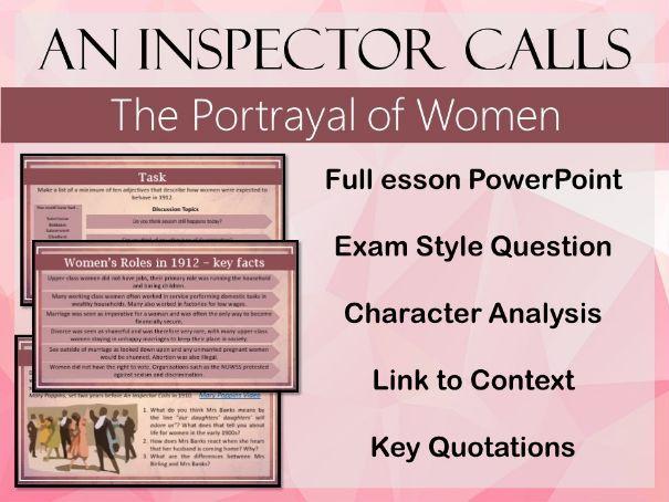 An Inspector Calls - Women PowerPoint (Several lessons)