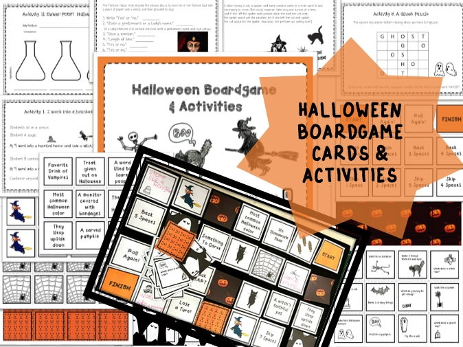 Halloween Board Game And Activities Pack For Key Stage 1,2