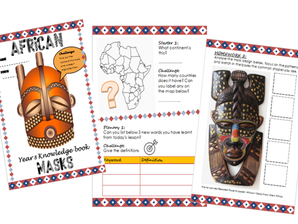 Home Learning Knowledge/homework booklet- African Art