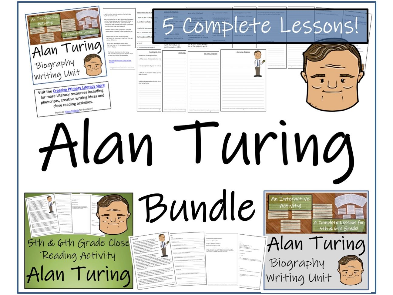 UKS2 History - Alan Turing Reading Comprehension & Biography Bundle