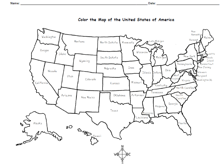 Color the Map of the USA