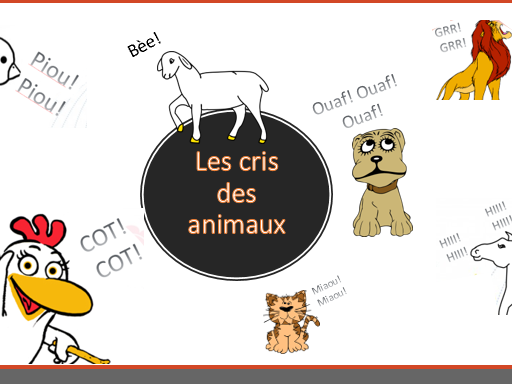 Les cris des animaux_how animals sound in French