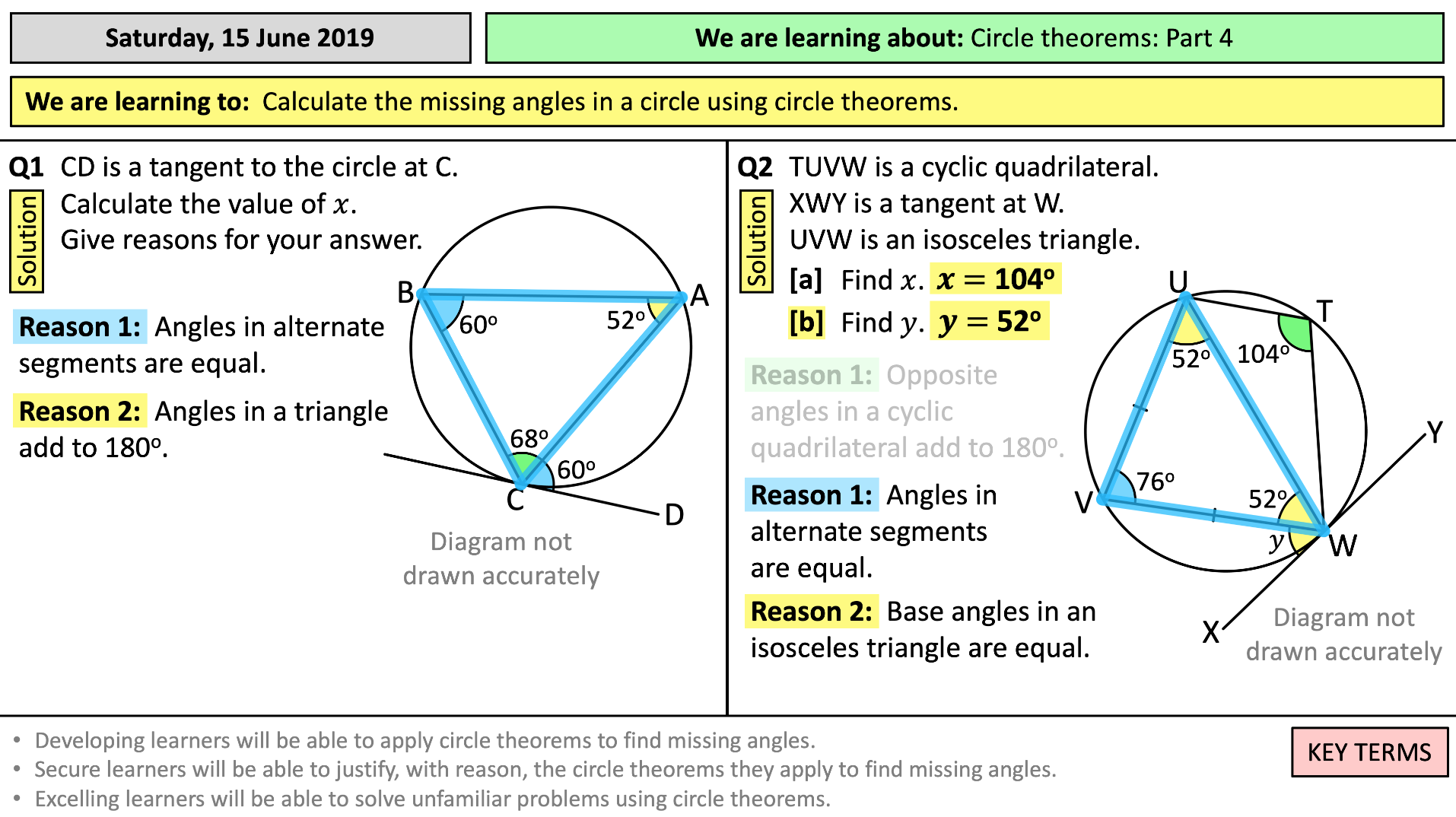 Circle Theorems - Part 23 (of 23)  Teaching Resources In Angles In A Circle Worksheet