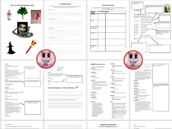 Macbeth Revision book / workbooklet for GCSE and A Level