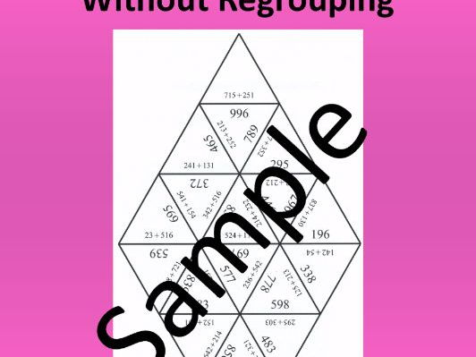 3 - digit Addition Without Regrouping – Math puzzle