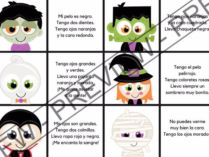 Bundle Halloween activities in Spanish - Actividades para Halloween (en español)