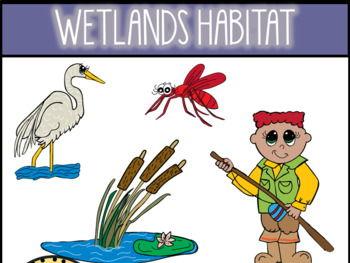 Wetlands Habitat Clip Art