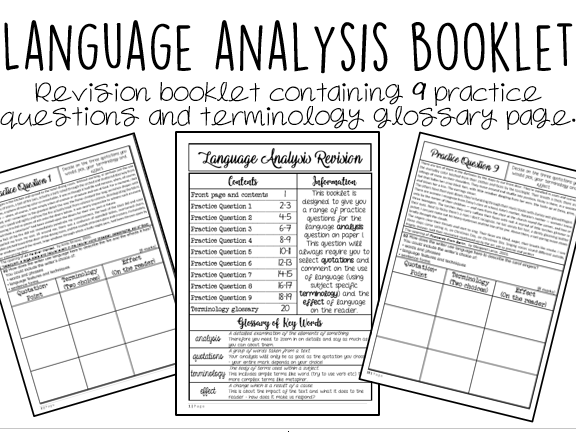 Language Analysis: 20 Page Revision Booklet