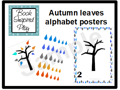 Autumn leaves counting activity