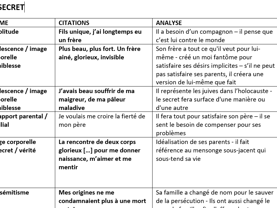 A LEVEL FRENCH - Un Secret Revision Guide (complete)