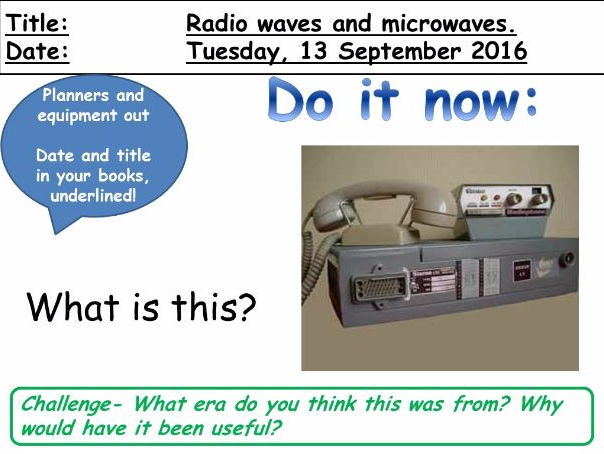 Radio Waves and Microwaves - Detection and Uses.
