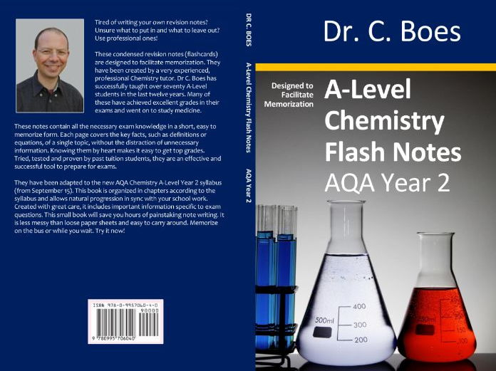 AQA A-Level Chemistry Condensed Revision Notes (Flashcards) Year 2