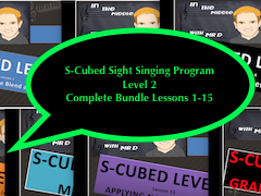 Full Bundle of Level TWO of the S-Cubed Middle School Sight Singing Program