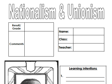 Nationalism & Unionism (pupil workbook)