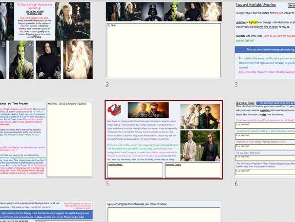 KS3 English Lesson Bundle: Language through Literature (suitable for remote/cover/normal lesson)