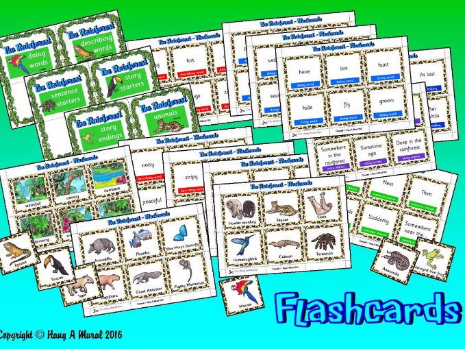 The Rainforest - Flash Cards/Story Prompts