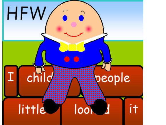 100 HFW On Humpty Dumpty Nursery Rhyme Display Phonics Literacy