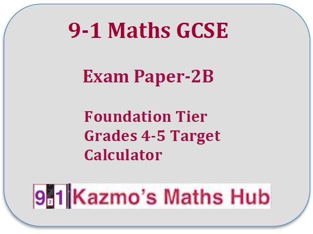 9-1 Maths GCSE Exam Paper -2B