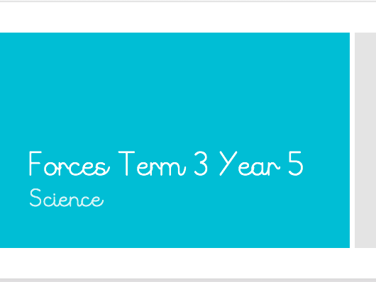 Forces Unit Science 6 Lessons Plan and Powerpoint