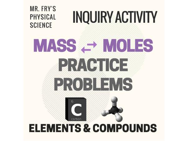 Mass - Moles Conversion Practice Problems