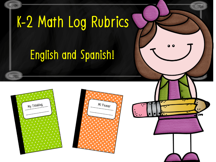 K-2 Math Log Rubrics in English and Spanish