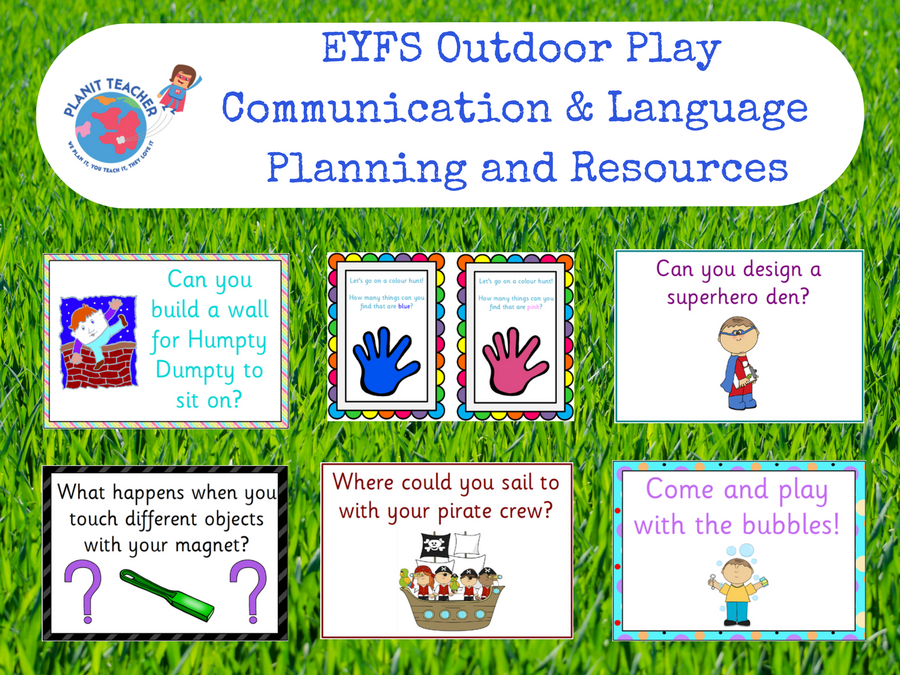 Outdoor Area Planning and Resources - EYFS Communication & Language