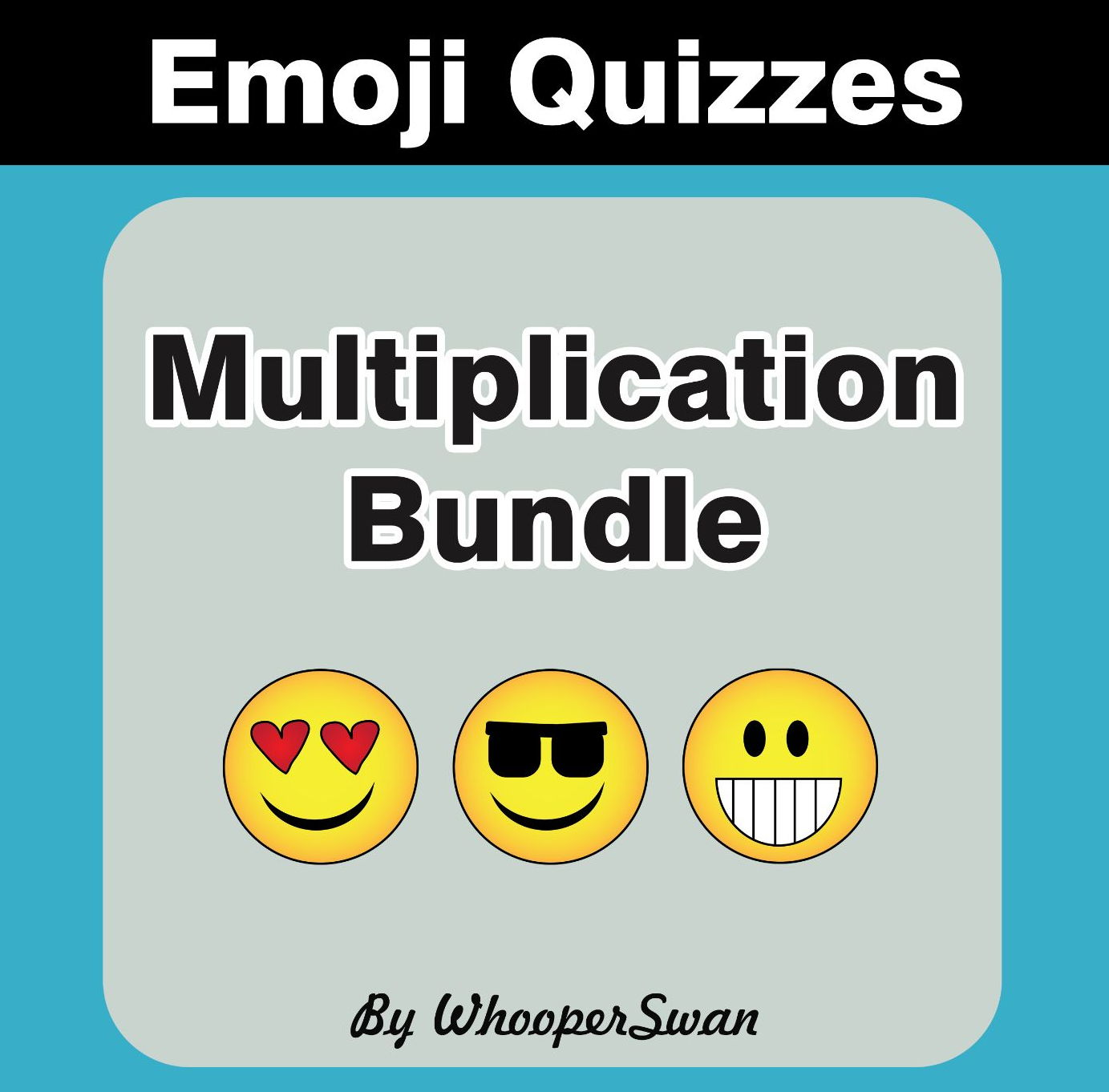 Multiplication Emoji Quiz Bundle